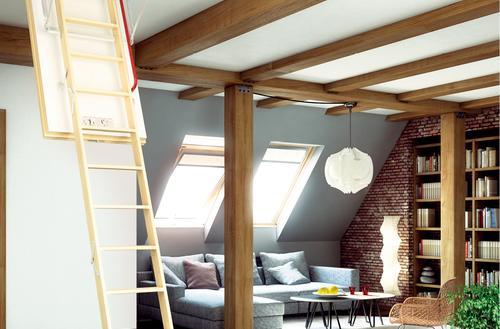 Ciepłe schody na strych